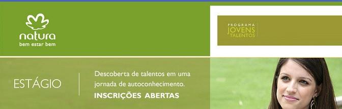 Estagio Natura Programa 2016 - Vagas