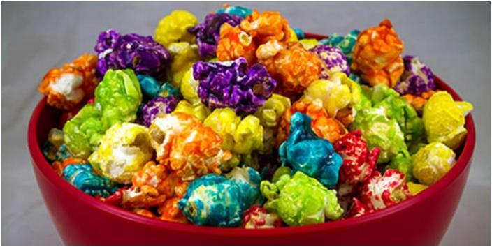 Pipoca Doce Caramelizada Colorida - Como Fazer e Sabor