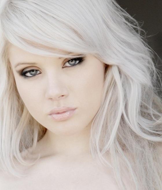 Platinados Ice Blond Tendência Cabelo