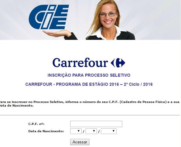 Programa Estágio Carrefour 2016 - Como  Inscrever