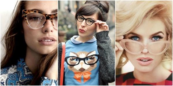 Óculos Estilo Gatinho moda