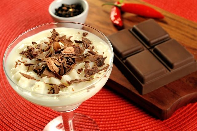 Canjica Com Chocolate Quente -
