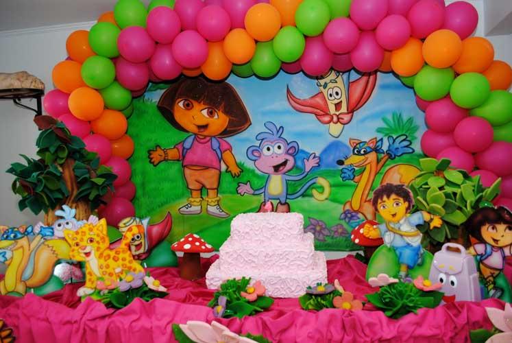 Festa Infantil Dora Aventureira . Como