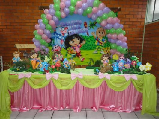 Festa Infantil Dora Aventureira - Decorar