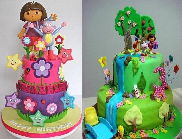 Festa Infantil Dora Aventureira - bolos