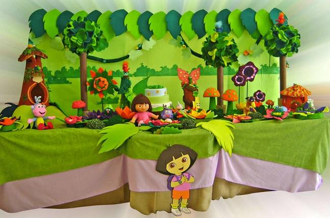 Festa Infantil Dora Aventureira - verde