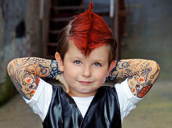 Roupas Tattoo Para Adultos e Crianças - Lançamento
