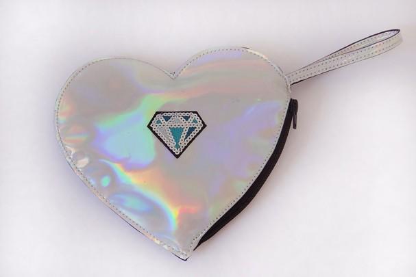Bolsas Metalizadas Tendência coração