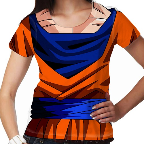 Camisetas 3D Dragon Ball  feminina