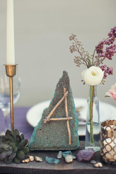 Casamento Com Minerais Nova Decoração mesa
