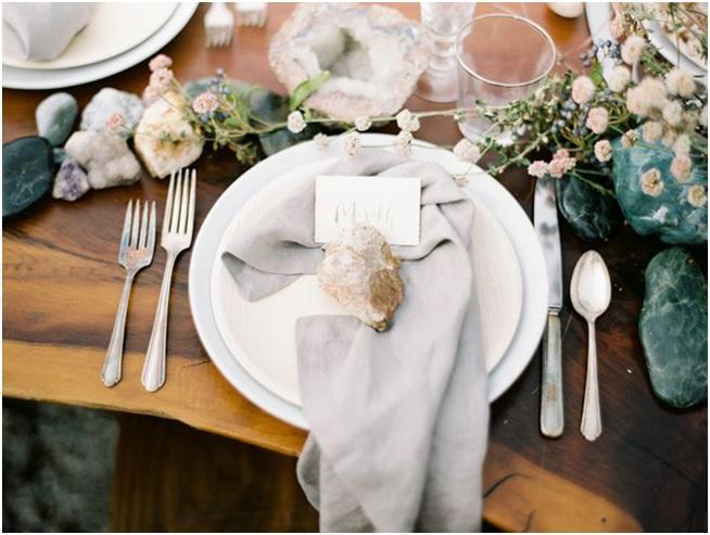 Casamento Com Minerais Nova Decoração -porta guardanapo