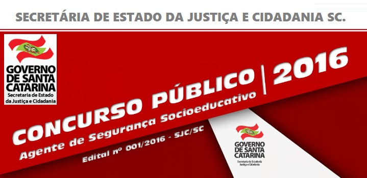 Concurso Secretaria de Justiça e Cidadania SC -