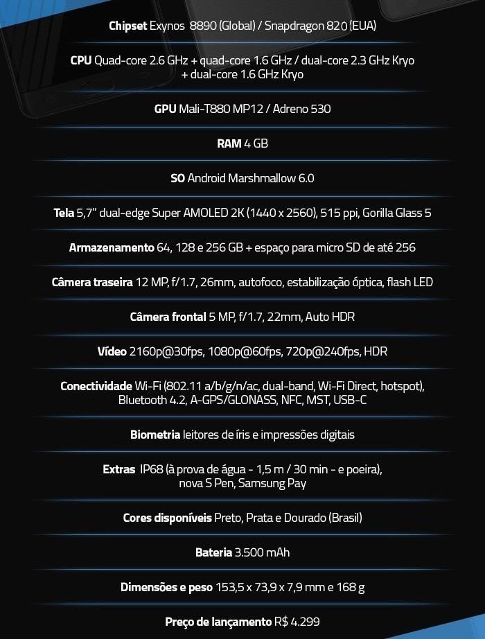 Galax Note S7 2016 - Modeloespecificação