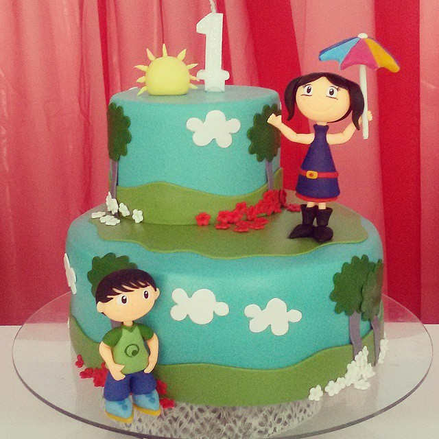 Show da Luna Tema Para Festa Infantil  bolos