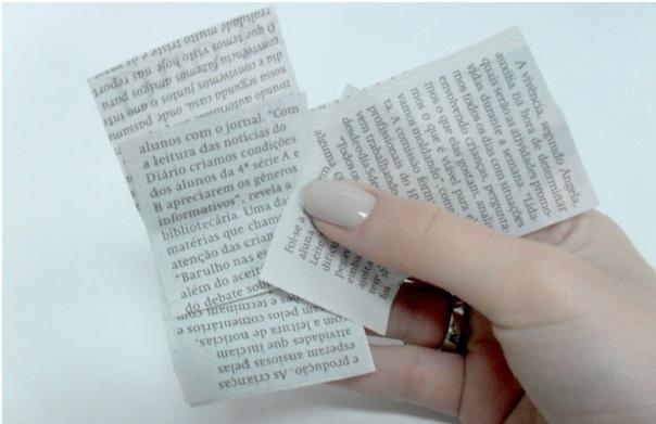 Unhas jornal como fazer recorte