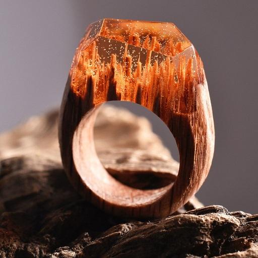Anéis Exclusivos – Paisagens Em Miniaturas amber