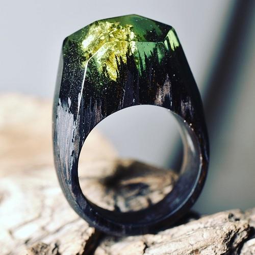 Anéis Exclusivos – Paisagens Em Miniaturas floresta