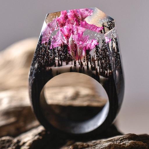 Anéis Exclusivos – Paisagens Em Miniaturas neves