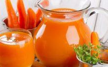 Suco de Cenoura – Benefícios e Receita