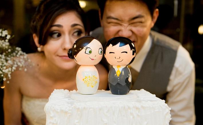 Topos de Bolo Para Casamento - Madeira