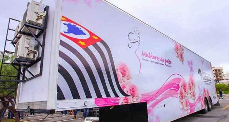 Carreta da Mamografia Gratuita – Roteiro Outubro Rosa 2016