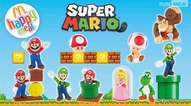 Super Mario no McLanche Feliz – Bonecos