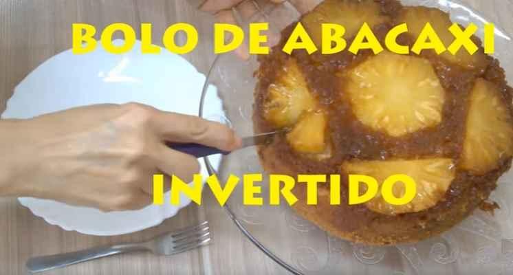 Bolo Invertido de Abacaxi Com Caramelo – Como Fazer