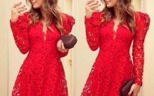 Vestidos Rendados Para o Natal – Modelos e Dicas