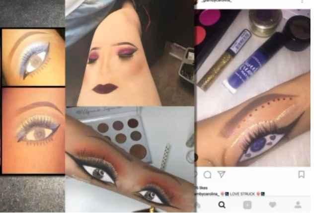Maquiagem Na Coxa- Novidade Instagram