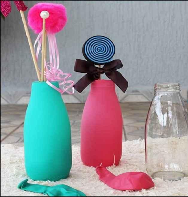 Garrafas Decoradas Com Balões – Material e Passo a Passo