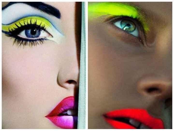 Maquiagem Com Sombras Neon – Modelos e Fotos