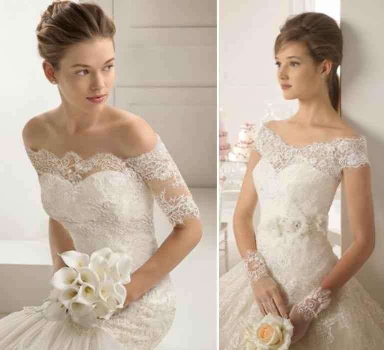 Vestidos de Noiva Decote Ombro a Ombro – Tendência