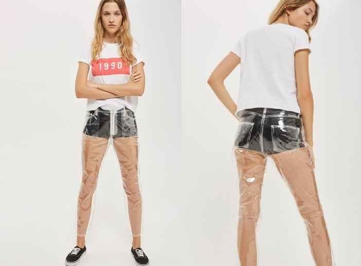 Calça Jeans de Plástico - Lançamento