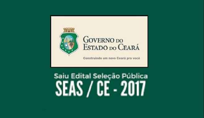 Concurso no SEAS do Ceará – Inscrições