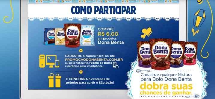 Promoção Dona Benta São João Com Carinho – Como Participar
