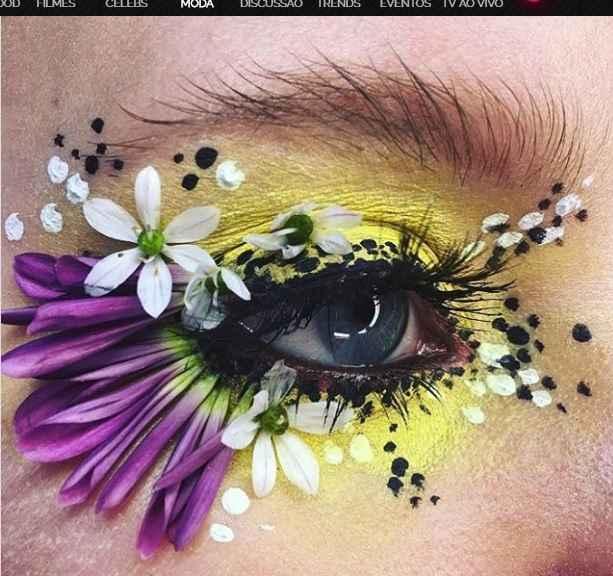 Maquiagem Artística Com Flores – Como Fazer