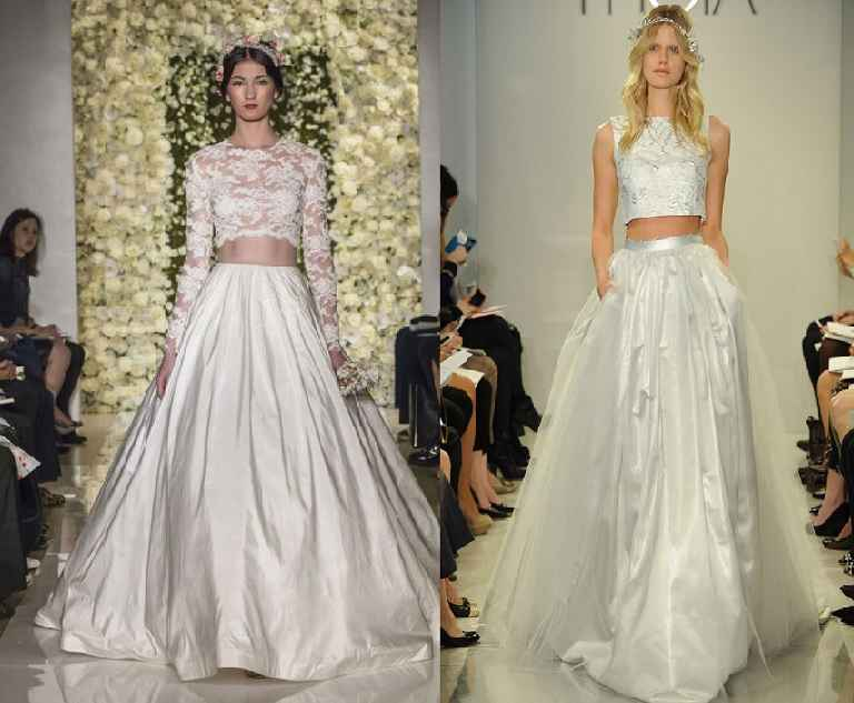 Vestido De Noiva Cropped – Nova Tendência