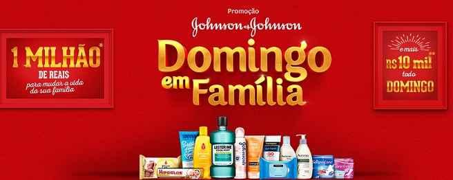 Promoção Johnson & Johnson Domingo Em Família – Como Participar