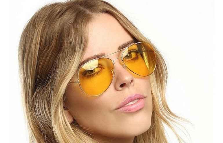 Óculos Com Lentes Amarelas – Tendência
