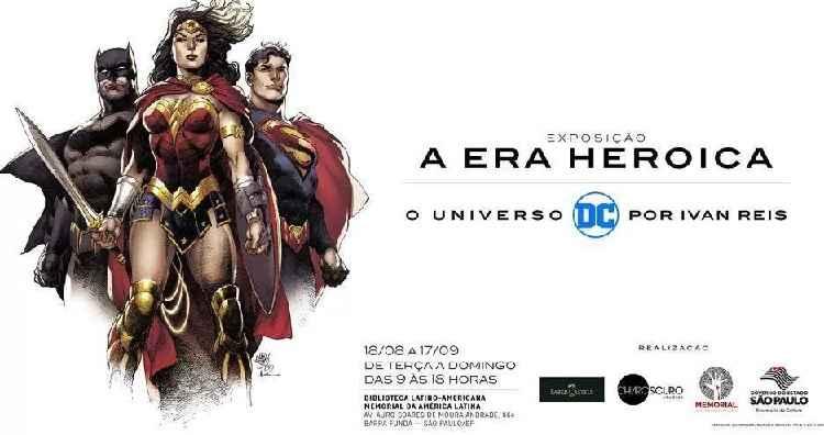 Exposição da DC Comics – Gratuita