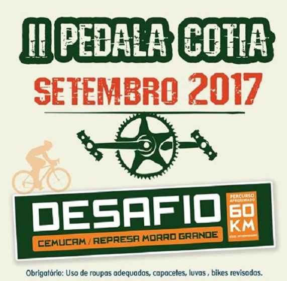 Pedala Cotia 2017 – Data e Local