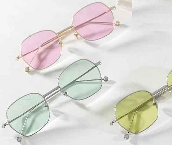 Óculos Com Lente Colorida - Tendência