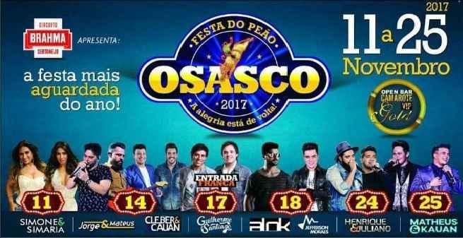 Festa do Peão de Osasco 2017 – Ingressos e Atrações