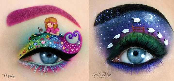 Maquiagem Para os Olhos Com Personagens - Como Fazer