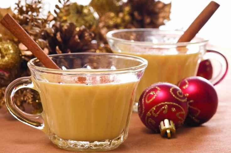 Bebida Eggnog Tradicional de Fim de Ano - Receita