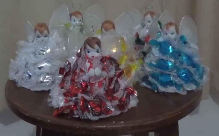Enfeites de Festa Anjinhos de Balas – Material e Vídeo