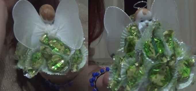 Enfeites de Festa Anjinhos de Balas - Material e Vídeo