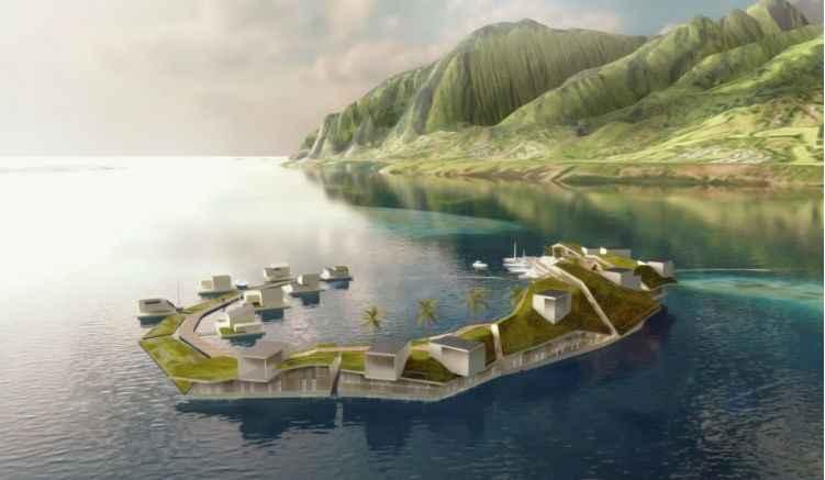 Cidade Flutuante Primeira do Mundo – Construção
