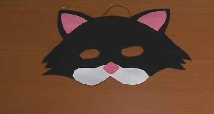 Máscara de Gato Para Carnaval – Material e Vídeo