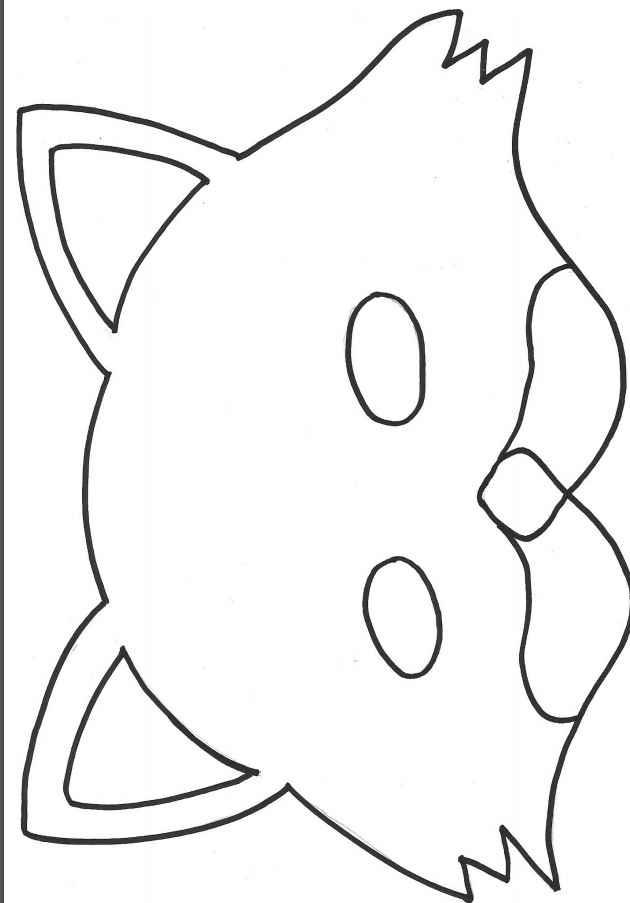 Máscara de Gato Para Carnaval - Material e Vídeo